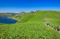 北海道 桃岩遊歩道と登山客