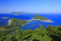 高知県 大堂山展望台から望む柏島と海