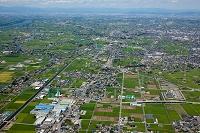 濃尾平野(津島市大縄町より愛西市方面)