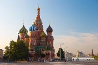 ロシア モスクワ 赤の広場の聖ワシリイ大聖堂(ボクロフスキー...