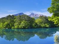 福島県 五色沼と磐梯山