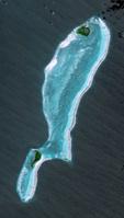 衛星画像 ブルーホール グレートブルーホール