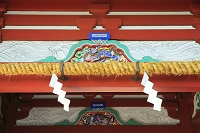 静岡県 久能山東照宮 楼門に施された火災除けの水紋