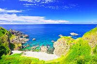 日本 青森県 深浦町の海岸