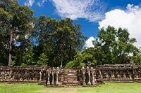 カンボジア アンコール・トム遺跡 象のテラス