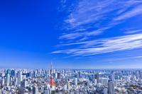 東京都 東京タワーと高層ビル