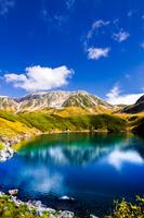 日本 富山県 みくりが池から立山