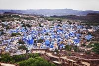 インド ジョードプル メヘラーンガル城塞からの街並み