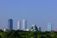 愛知県 名古屋城と高層ビル