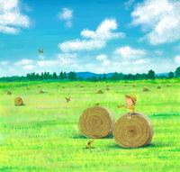 真夏の牧場