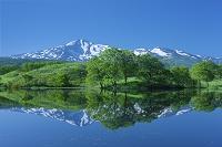 秋田県 とやもり池と鳥海山
