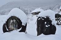 長野県 安曇野市 おひさまロケ地と道祖神