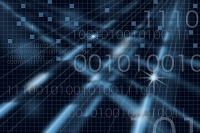 二進法とネットワークイメージ CG