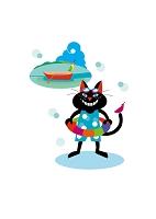 黒 猫ボスの夏休み