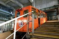 青函トンネル記念館駅と体験坑道駅結ぶケーブルカー