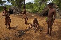 ナミビア オチョソンデュパ   火起こしデモンストレーション
