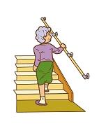 階段を上るおばあちゃん