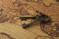 世界地図と鍵