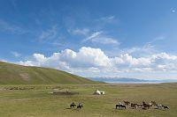 キルギスタン ナルイン 遊牧民