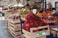 フィレンチェ 市場の街並み