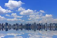 東京都 夏の青空と都心の街並