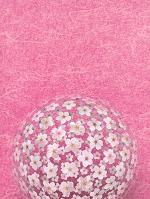 和紙に溶け込む桜の花玉
