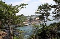 六角堂と五浦の海岸 岡倉天心が思索のために建てた 2013.07.09...
