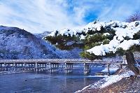 京都府 雪晴れの嵐山