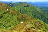 北海道 上川町 北海道 上士幌町 石狩岳頂上より大雪山の山々