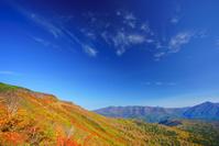 北海道 赤岳第一花園のナナカマドの紅葉とニセイカウシュッペ山...
