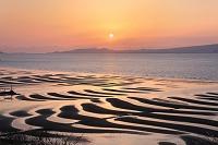 熊本県 宇土の干潟 夕景