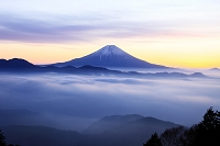 山梨県 七面山より富士山