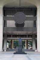 ハワイ ハワイ州議会議事堂 ダミアン神父の銅像
