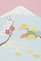 富士山と松竹梅 イラスト