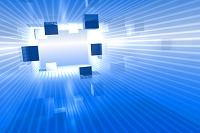 立方体と光 CG