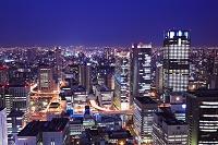 大阪府 ブリーゼタワーから大阪の夜景