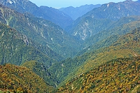 長野県 岩小屋沢岳から黒部渓谷の山陵俯瞰