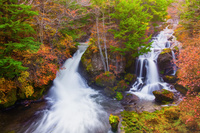 栃木県 奥日光 紅葉の竜頭の滝