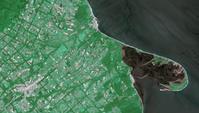 衛星画像 野付半島