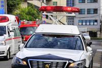 パトカーと救急車と消防車