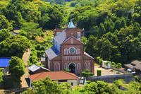 長崎県 黒島天主堂と黒島の集落