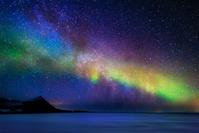アイスランド スナイフェルス半島のオーロラ