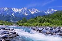 長野県 松川と白馬三山