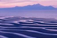 熊本県 御輿来海岸の干潟と島原半島 雲仙普賢岳