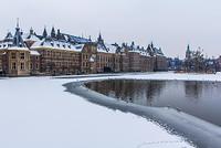 オランダ ハーグの雪景色