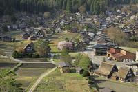 岐阜県 城山天守閣展望台から白川郷の萩町集落