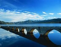 北海道 上士幌町 糠平湖と旧国鉄アーチ橋