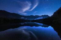 長野県 大正池と星空