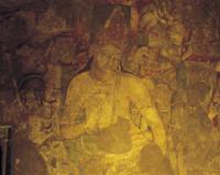アジャンタ石窟 第一窟後廊後壁の守門神
