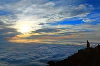 山梨県 富士山頂からご来光